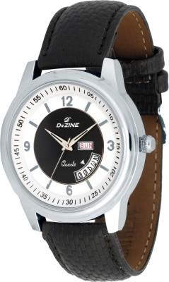 Dezine DZ GR881 BLK+WHT BLK Decker Analog Watch   For Men Dezine Wrist Watches