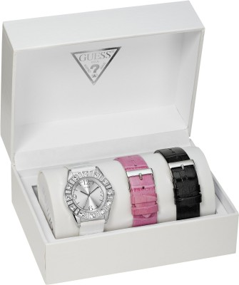 Guess I95263L1 Sparkle Box Set Analog Watch For Women