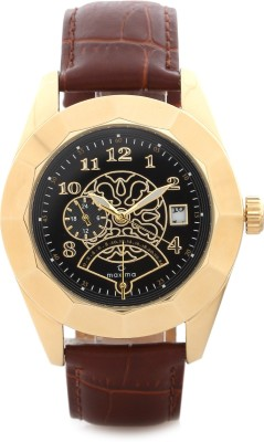 Maxima 30370LMGY Gold Analog Watch - For Men