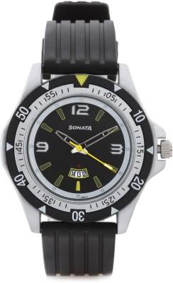 Sonata NH7930PP08 Analog Watch   For Men Sonata Wrist Watches