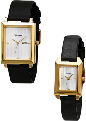 Sonata 70788067YL03  Analog Watch For Couple