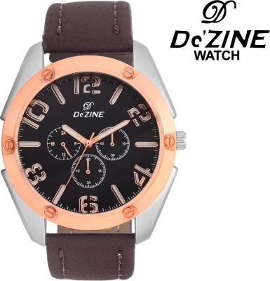 Dezine DZ-GR061-BLK-BRW  Analog Watch For Boys