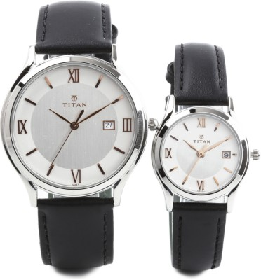 Titan 19592959SL02 Bandhan Analog Watch For Couple