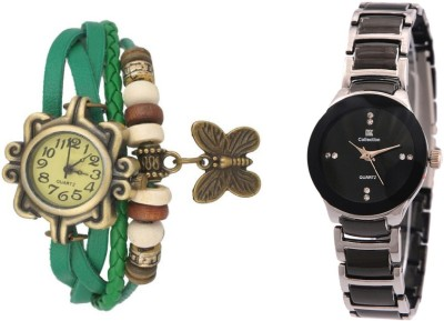 IIK Collection Green-Silver Watch  - For Women   Watches  (IIK Collection)