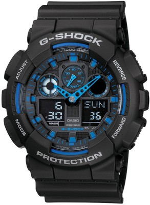 Casio G271 G Shock   GA 100 1A2DR   Analog Digital Watch   For Men Casio Wrist Watches
