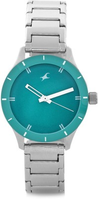 Fastrack NG6078SM01C Monochrome Analog Green Dial Women's Watch (NG6078SM01C)