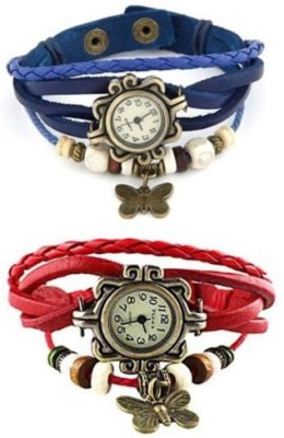 RSN Vintage Butter fly blue-red Analog Watch  - For Girls