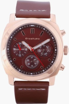 Giordano 1751-02 Brown Dial Analog Men's Watch (1751-02)