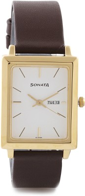 Sonata NG7078YL03 Watch  - For Men