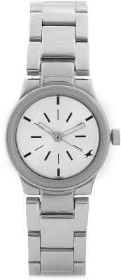 Fastrack NG6114SM01 Analog Silver Dial Women's Watch (NG6114SM01)