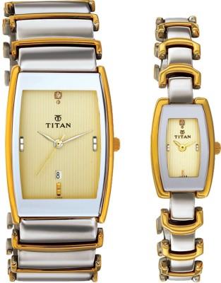 Titan 13772385BM02 Klassik Analog Watch For Couple