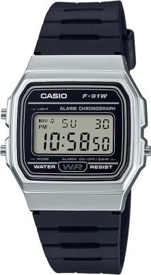 Casio D141 Youth Digital ( F-91WM-7ADF ) Digital Watch  - For Men & Women