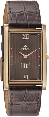 Titan Edge NH1598WL02 Analog Brown Dial Men's Watch