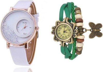 Mxre White-Green Watch  - For Women