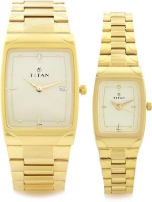 Titan 19372937YM02 Bandhan Analog Watch For Couple