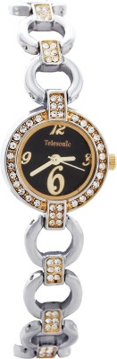 Telesonic GCI-014(BLACK) Integrity Series Analog Watch For Women