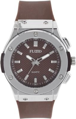 Fluid FL-410-BR ROUND Analog Watch For Unisex