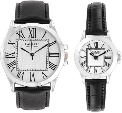 Laurels Original LO-LIB-201 Combo Analog Watch For Couple