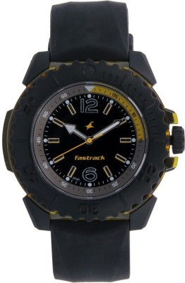 Fastrack Analog Black Dial Men's Watch, 38020PP01
