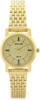 Sonata 87018YM01CJ Analog Watch - For Women