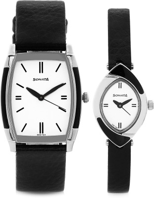 Sonata 70808069SL01  Analog Watch For Unisex