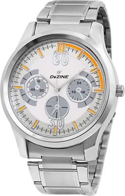 Dezine DZ GR801 WHT CH Analog Watch   For Men Dezine Wrist Watches