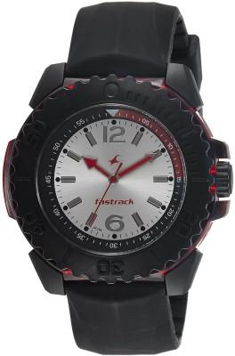 Fastrack NG38020PP04CJ Quartz Silver Round Men's Watch (NG38020PP04CJ)