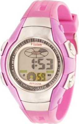 Vizion 8505-6PURPLE Cold Light Digital Watch For Boys