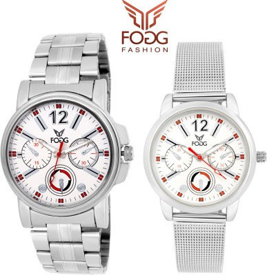 Fogg 5062-WH-CK Modish Watch  - For Couple