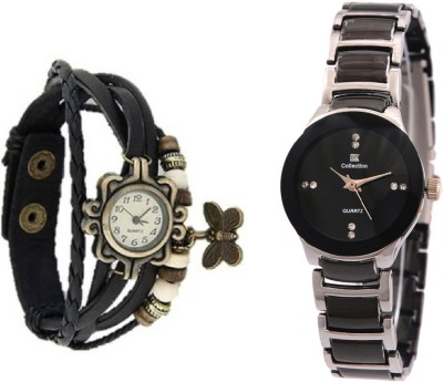 IIK Collection Black-Silver-59 Analog Watch  - For Women   Watches  (IIK Collection)
