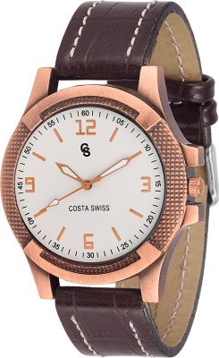Costa Swiss CS-0004 Quirky White Analog Watch  - For Men