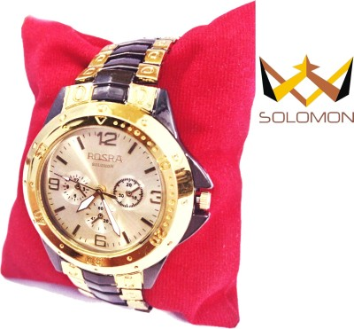 Solomon SOIIKBLKGOLDEN02 Watch  - For Men
