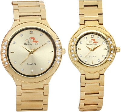 Bromstad 643PG Pair Analog Watch For Couple