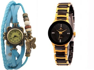 IIK Collection Blue-Gold Watch  - For Women   Watches  (IIK Collection)