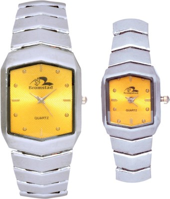 Bromstad 1021PCH Standred Analog Watch For Couple