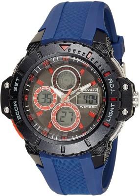 Sonata 77044PP03 Analog-Digital Watch