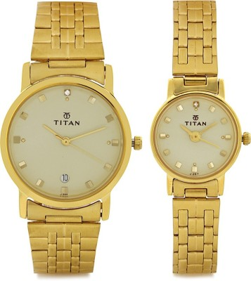Titan 617917YM08  Analog Watch For Couple