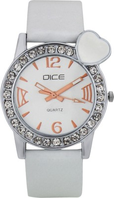 DICE HBTW-W143-9658 Heartbeat White Analog Watch For Women