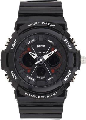 Skmei SKMEI.A.0966 BLACK RED Analog Watch  - For Men