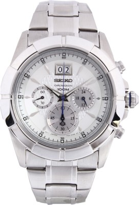 Seiko SPC107P1 Lord Chronograph Black Dial Men's Watch (SPC107P1)