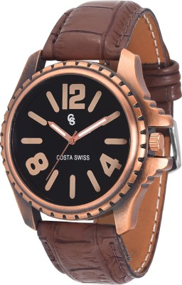 Costa Swiss CS-4004 Sub-Aquatic Copper Analog Watch  - For Men