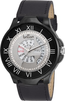 Britton BR-GR4816-WHT-BLK Day Date Analog Watch For Boys