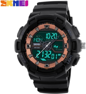 Skmei GMARKS-9811-ORG  Analog-Digital Watch For Unisex