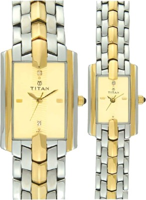Titan 19262926BM02  Analog Watch For Couple
