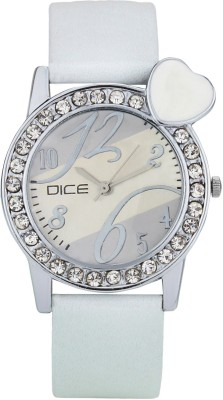 DICE HBTW-W175-9655 Heartbeat White Analog Watch For Women