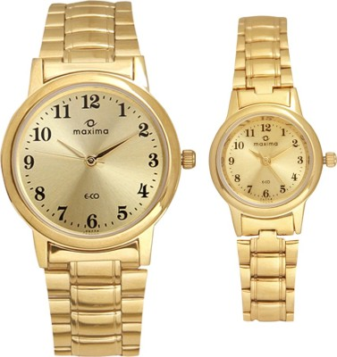 Maxima MAXC74 Couplegold Analog Watch For Couple