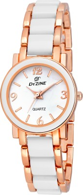 Dezine DZ-LR699-WHT-CH  Analog Watch For Girls