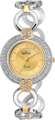 Britton BR-LR021-GLD-TT-CH  Analog Watch For Girls
