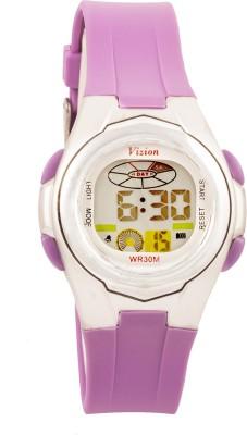 Vizion 8517B-8PURPLE Cold Light Digital Watch For Boys