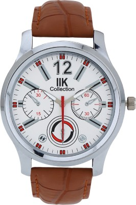 IIK Collection Chronograph Pattern Round Shaped Analog Watch   For Men IIK Collection Wrist Watches